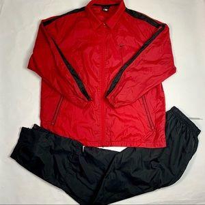 VTG 90s Nike Air 2Pcs TrackSuit Red/Black Sz Large